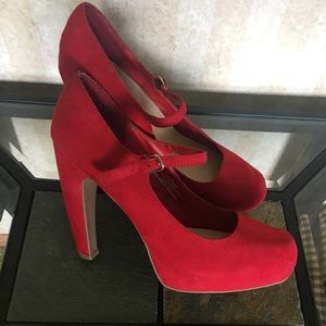 Sexy Red Mary Jane Heels